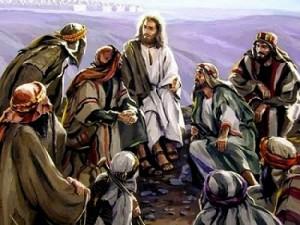 Jesus Disciples Listening to Him