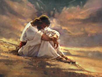 Jesus Praying in the Desert