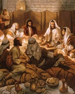 Jesus Teaching at Table