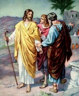 Jesus With Two of His Disciples