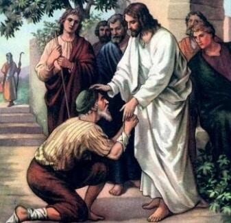 Jesus healed a leper
