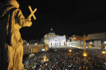 Crowd at St. Peters Square