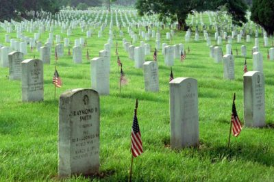 Monday 5/29/17 - Memorial Day for those who died for us