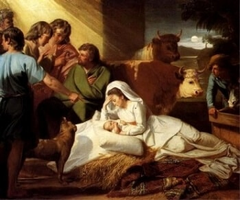 the nativity of the birth of Jesus